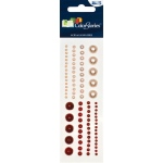 "Blue Hills Studio™ ColorStories™ Adhesive Pearls Red: Red/Pink, Pearl, 2"" x 5 3/4"", Dimensional"