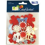 "Blue Hills Studio™ ColorStories™ Handmade Paper Potpourri Red: Red/Pink, Paper, 2 1/4"", Dimensional"