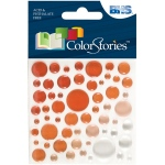 "Blue Hills Studio™ ColorStories™ Epoxy Color Spots Stickers Red: Red/Pink, Epoxy, 3 1/4"" x 3 1/4"", Dimensional"