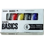 Liquitex® Basics Acrylic 6-Color Set: Multi, Tube, 22 ml, Acrylic, (model 101501), price per set