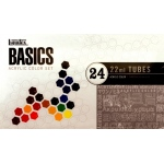 Liquitex® Basics Acrylic 24-Color Set: Multi, Tube, 22 ml, Acrylic, (model 101024), price per set