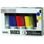 Liquitex® Basics Acrylic 5-Color Set: Multi, Tube, 75 ml, Acrylic, (model 101082), price per set