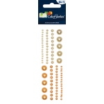 "Blue Hills Studio™ ColorStories™ Adhesive Pearls Yellow: Yellow, Pearl, 2"" x 5 3/4"", Dimensional"