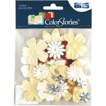 "Blue Hills Studio™ ColorStories™ Handmade Paper Potpourri Yellow: Yellow, Paper, 2 1/4"", Dimensional, (model BHS10210), price per each"