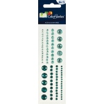 "Blue Hills Studio™ ColorStories™ Adhesive Gems Green: Green, Gem, 2"" x 5 3/4"", Dimensional"