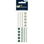 "Blue Hills Studio™ ColorStories™ Adhesive Pearls Green: Green, Gem, 2"" x 5 3/4"", Dimensional"