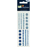 "Blue Hills Studio™ ColorStories™ Adhesive Gems Blue: Blue, Gem, 2"" x 5 3/4"", Dimensional"