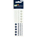 "Blue Hills Studio™ ColorStories™ Adhesive Pearls Blue: Blue, Pearl, 2"" x 5 3/4"", Dimensional"
