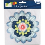 "Blue Hills Studio™ ColorStories™ Handmade Paper Stacked Flowers Blue: Blue, Paper, 6"", Dimensional, (model BHS10409), price per each"