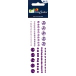 "Blue Hills Studio™ ColorStories™ Adhesive Gems Purple: Purple, Gem, 2"" x 5 3/4"", Dimensional"
